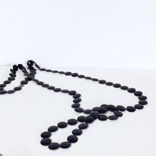 Other vintage faceted lucite plastic disc beaded long strand necklace