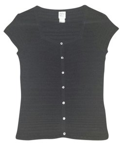 DKNY Businesscasual Knitted Buttons Button Down Shirt Black