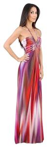 multi Maxi Dress by Sky Jolima Halter