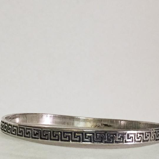 Other sterling silver Greek key design vintage heavy 925 handmade bangle bracelet