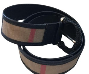Burberry Black Leather Belt, Size 36/90