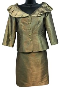 Adrianna Papell Adrianna Papell Occasions Evening Brownish Gold Skirt Suit 4