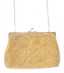 Other Beaded Retro Evening Gold Clutch