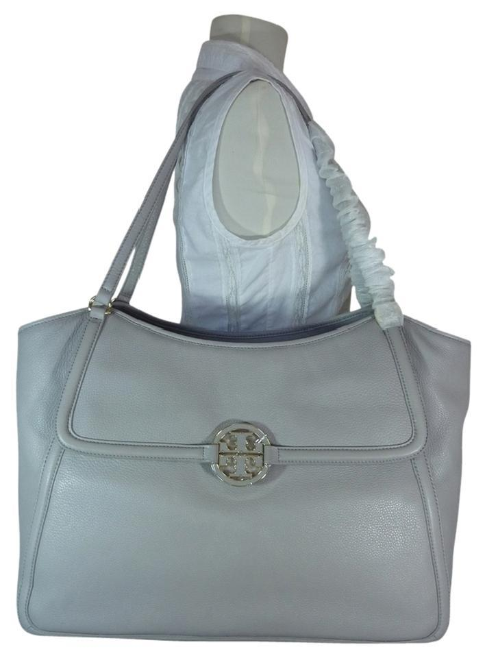 Large Tote Burch Leather Easy Gray Mercury Tory Amanda qUgTpRW