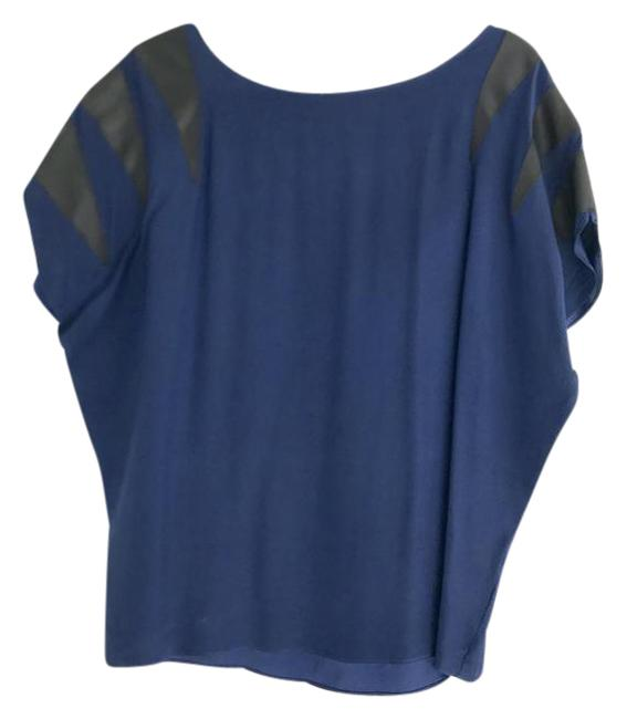 Preload https://item2.tradesy.com/images/parker-blue-silk-with-leather-blouse-size-4-s-21296286-0-1.jpg?width=400&height=650