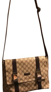 Gucci white and brown Messenger Bag