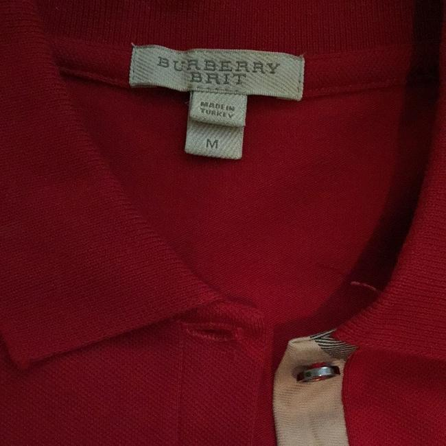 Burberry Brit Button Down Shirt Red
