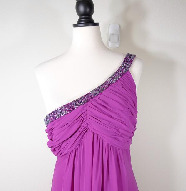 Cachet Beaded Gown One Shoulder Dress