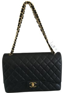 Chanel Caviar Maxi Double Flap Flap Shoulder Bag