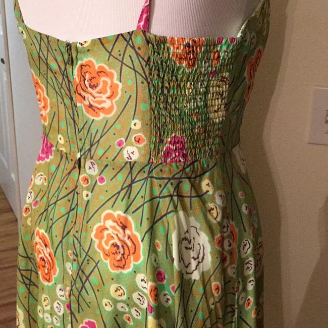 Anthropologie short dress Sheer Silk Green on Tradesy