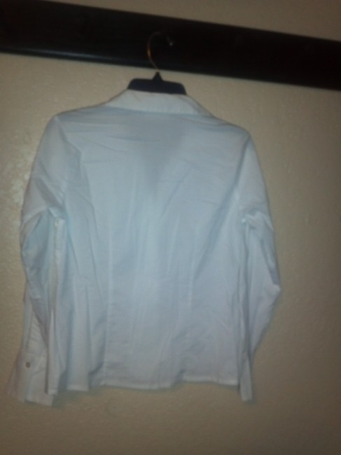 Apostrophe Button Down Shirt white