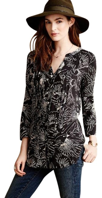 Preload https://item5.tradesy.com/images/anthropologie-maeve-bird-print-tunic-button-down-top-size-6-s-21296509-0-1.jpg?width=400&height=650