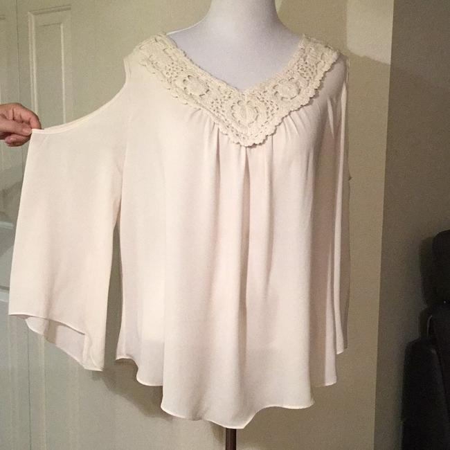 Sami & Jo Top Cold Shoulder Cream