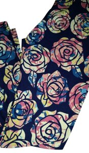 LuLaRoe LuLaRoe Roses TC Leggings - Blue Colorway Leggings