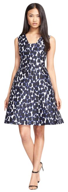 Preload https://item1.tradesy.com/images/kate-spade-blue-be-daring-leopard-fit-and-mid-length-cocktail-dress-size-2-xs-21296570-0-1.jpg?width=400&height=650