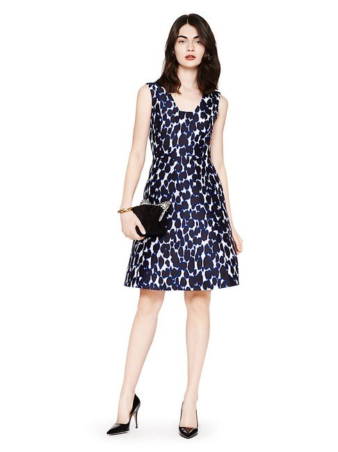 Kate Spade Leopard Print Fit And Flare Holiday Dress