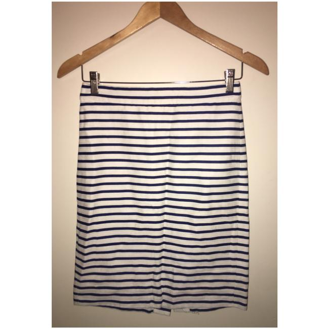 J.Crew Skirt navy & white striped