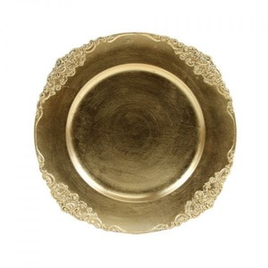 Koyal Wholesale Gold Plate Chargers (100 Qty) Us Only Tableware