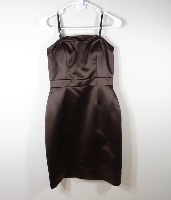 Badgley Mischka Strapless Bridesmaid Satin Dress