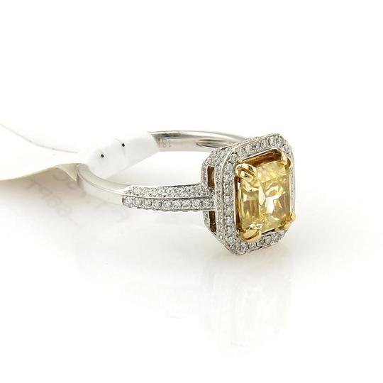 Other Radiant Cut 1.75ct Fancy Intense Yellow Diamond 18k Gold Ring GIA Cert