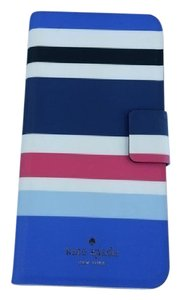 Kate Spade Blue, White, Pink New Waltz Stripe Folio Phone Case