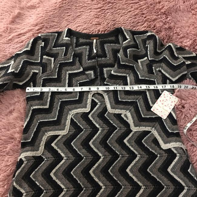 Free People Chevron Print Sweater Dress short dress gray, white, and black. on Tradesy