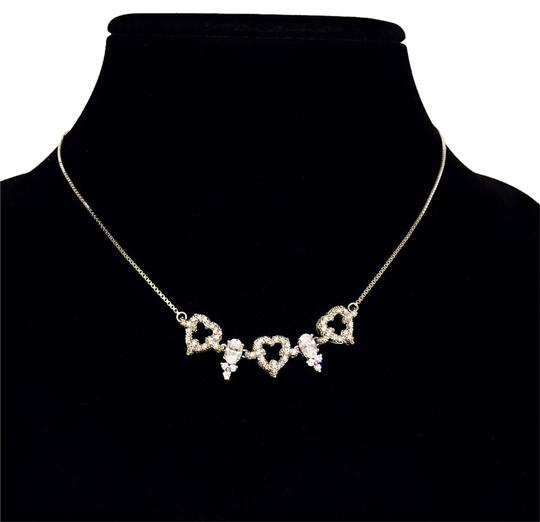 Preload https://item2.tradesy.com/images/silver-vintage-rhinestone-plated-cubic-zirconia-prong-set-bridal-prom-necklace-21296776-0-1.jpg?width=440&height=440