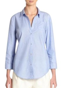 Elizabeth and James Button Down Shirt Blue