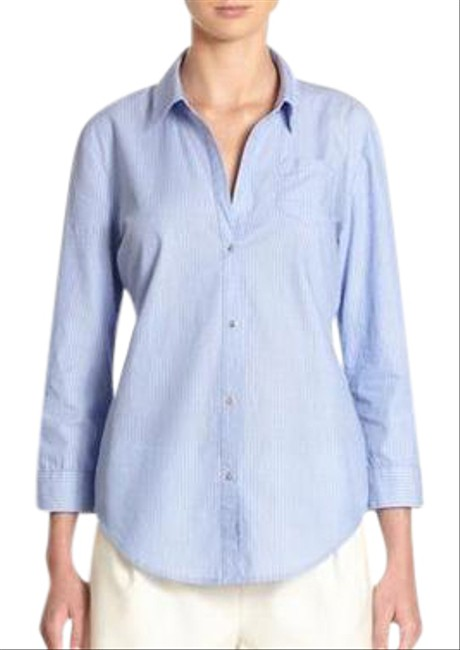 Preload https://item5.tradesy.com/images/elizabeth-and-james-blue-cohen-striped-button-back-poplin-shirt-button-down-top-size-4-s-21296779-0-1.jpg?width=400&height=650