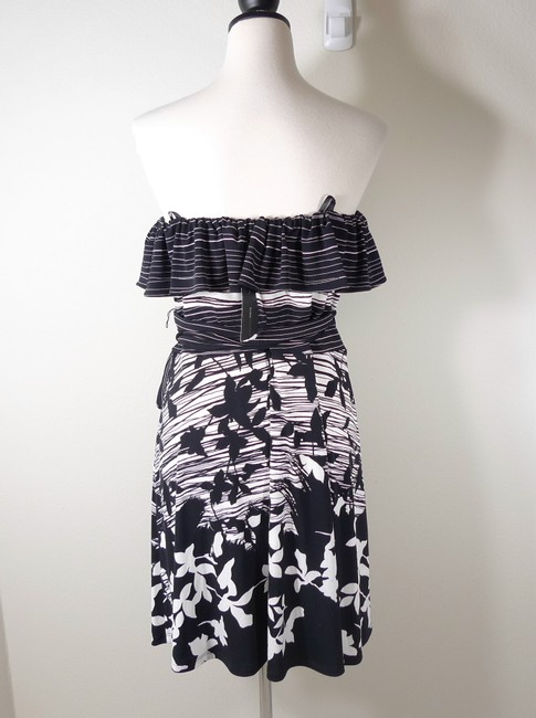 BCBGMAXAZRIA Strapless Printed Dress