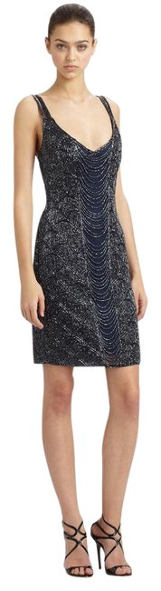 Theia Art Deco Beaded Dress
