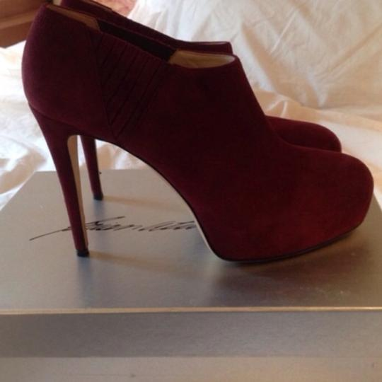 Brian Atwood burgundy Boots