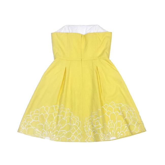 Lilly Pulitzer short dress Yellow Embroidery on Tradesy