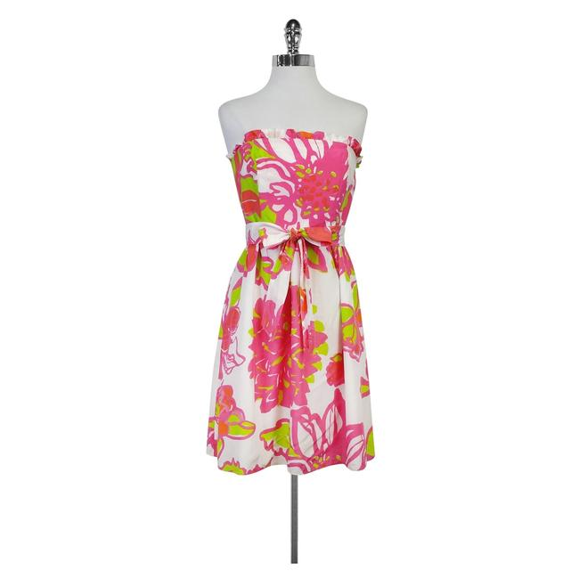 Preload https://img-static.tradesy.com/item/21296956/lilly-pulitzer-multicolor-white-pink-and-green-floral-strapless-short-casual-dress-size-6-s-0-0-650-650.jpg