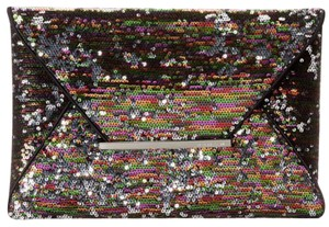 BCBGMAXAZRIA black, multi-colored sequins Clutch