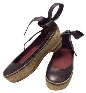 Marc by Marc Jacobs Platform Sandals Espadrille Sandals Wedge Espadrille Platforms Brown Mules