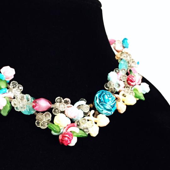 Other vintage pastel glass and lucite floral motif handmade in western Germany necklace