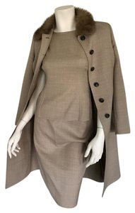 Akris Akris skirt suit with matching coat, made in Italy
