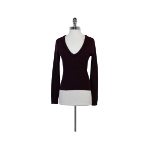 Ralph Lauren Cashmere V-neck Ruffle Sweater