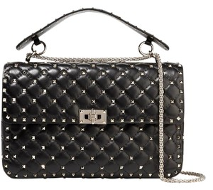 Valentino Rockstud New Spiked Large Studded Shoulder Bag