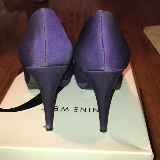 Nine West Purple with Flowers Pumps