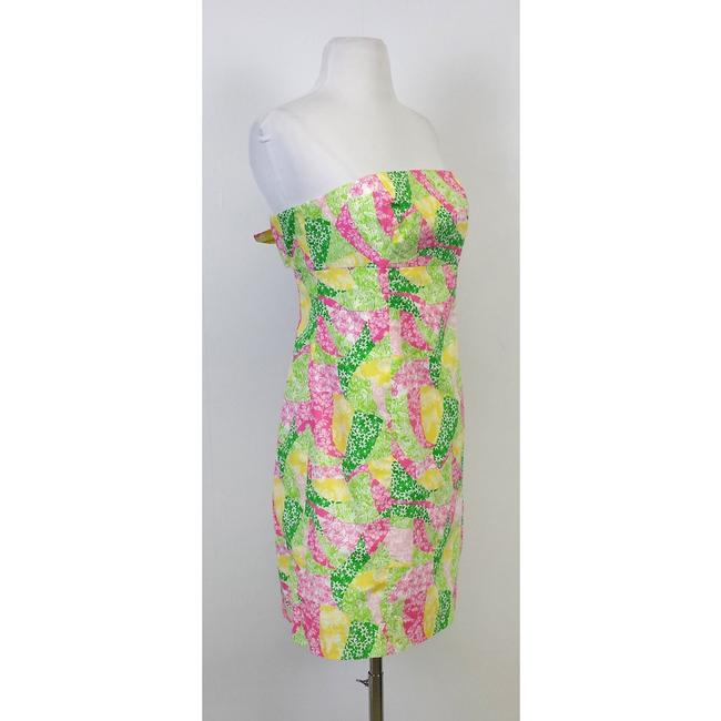 Lilly Pulitzer short dress Multi Patchwork Tie Back Strapless on Tradesy