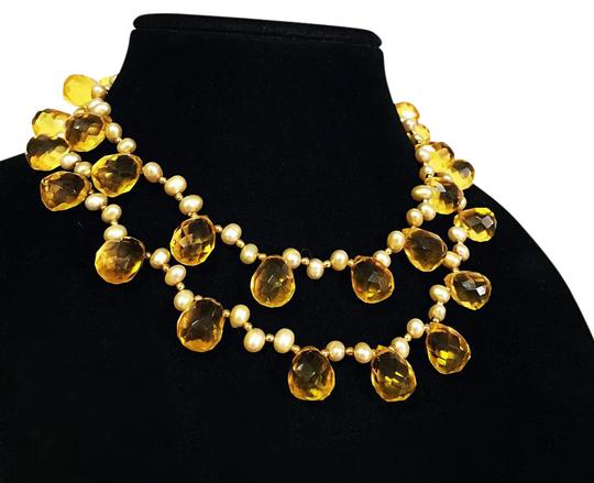 Preload https://img-static.tradesy.com/item/21297218/yellow-vintage-stunning-heavy-genuine-pearl-and-briolette-faceted-citrine-bead-necklace-0-1-540-540.jpg