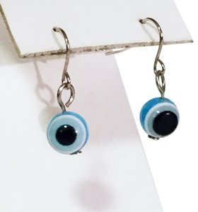 Other vintage blue hook dangle seeing eye charm jewelry earrings