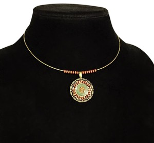 Lia Sophia Lia Sophia torque medallion choker wire necklace