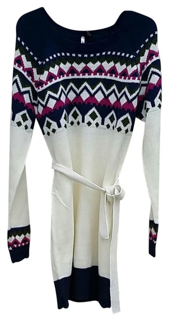 Preload https://img-static.tradesy.com/item/21297272/love-by-design-ivory-and-blue-long-belted-sweaterpullover-size-16-xl-plus-0x-0-1-650-650.jpg