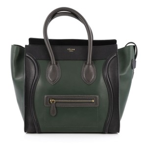 Céline Bicolor Leather Tote