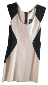 Express short dress beige/black on Tradesy