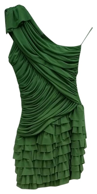 Preload https://img-static.tradesy.com/item/21297382/green-ruffled-short-cocktail-dress-size-8-m-0-1-650-650.jpg