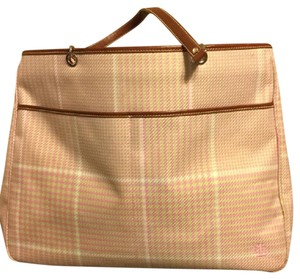 Ralph Lauren Hobo Plaid Tote in Yellow Pink White Green